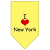 Mirage Pet Products I Heart New York  Screen Print Bandana Yellow Large