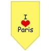 Mirage Pet Products I Heart Paris  Screen Print Bandana Yellow Small