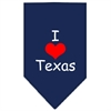 Mirage Pet Products I Heart Texas  Screen Print Bandana Navy Blue large