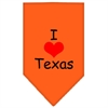 Mirage Pet Products I Heart Texas  Screen Print Bandana Orange Small