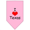 Mirage Pet Products I Heart Texas  Screen Print Bandana Light Pink Large