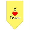 Mirage Pet Products I Heart Texas  Screen Print Bandana Yellow Large