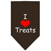 Mirage Pet Products I Heart Treats  Screen Print Bandana Cocoa Small