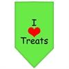 Mirage Pet Products I Heart Treats  Screen Print Bandana Lime Green Small