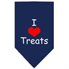 Mirage Pet Products I Heart Treats  Screen Print Bandana Navy Blue large