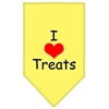 Mirage Pet Products I Heart Treats  Screen Print Bandana Yellow Large