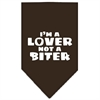 Mirage Pet Products I'm a Lover Not a Biter Screen Print Bandana Cocoa Small