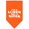 Mirage Pet Products I'm a Lover Not a Biter Screen Print Bandana Orange Large