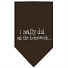Mirage Pet Products I really did eat the Homework Screen Print Bandana Cocoa Small