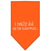 Mirage Pet Products I really did eat the Homework Screen Print Bandana Orange Large