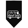 Mirage Pet Products I ride the short bus Screen Print Bandana Black Large