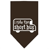 Mirage Pet Products I ride the short bus Screen Print Bandana Cocoa Small