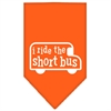 Mirage Pet Products I ride the short bus Screen Print Bandana Orange Large