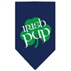 Mirage Pet Products Irish Pup Screen Print Bandana Navy Blue large
