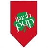 Mirage Pet Products Irish Pup Screen Print Bandana Red Large