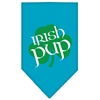 Mirage Pet Products Irish Pup Screen Print Bandana Turquoise Large