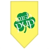 Mirage Pet Products Irish Pup Screen Print Bandana Yellow Large