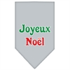 Mirage Pet Products Joyeux Noel Screen Print Bandana Grey Large