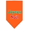 Mirage Pet Products Joyeux Noel Screen Print Bandana Orange Small