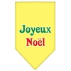 Mirage Pet Products Joyeux Noel Screen Print Bandana Yellow Large