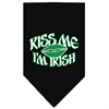 Mirage Pet Products Kiss me I'm Irish Screen Print Bandana Black Large