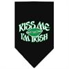 Mirage Pet Products Kiss me I'm Irish Screen Print Bandana Black Small