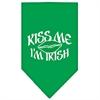Mirage Pet Products Kiss me I'm Irish Screen Print Bandana Emerald Green Small