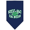 Mirage Pet Products Kiss me I'm Irish Screen Print Bandana Navy Blue large