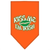 Mirage Pet Products Kiss me I'm Irish Screen Print Bandana Orange Large