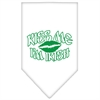 Mirage Pet Products Kiss me I'm Irish Screen Print Bandana White Large