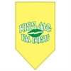 Mirage Pet Products Kiss me I'm Irish Screen Print Bandana Yellow Large