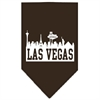 Mirage Pet Products Las Vegas Skyline Screen Print Bandana Cocoa Small