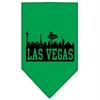 Mirage Pet Products Las Vegas Skyline Screen Print Bandana Emerald Green Small