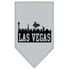 Mirage Pet Products Las Vegas Skyline Screen Print Bandana Grey Large