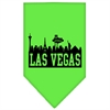 Mirage Pet Products Las Vegas Skyline Screen Print Bandana Lime Green Large