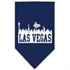 Mirage Pet Products Las Vegas Skyline Screen Print Bandana Navy Blue Small