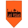 Mirage Pet Products Las Vegas Skyline Screen Print Bandana Orange Large