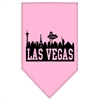 Mirage Pet Products Las Vegas Skyline Screen Print Bandana Light Pink Small