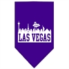 Mirage Pet Products Las Vegas Skyline Screen Print Bandana Purple Large