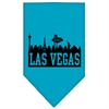 Mirage Pet Products Las Vegas Skyline Screen Print Bandana Turquoise Large