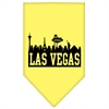 Mirage Pet Products Las Vegas Skyline Screen Print Bandana Yellow Small