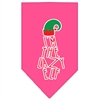 Mirage Pet Products Lazy Elf Screen Print Pet Bandana Bright Pink Size Large
