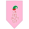 Mirage Pet Products Lazy Elf Screen Print Pet Bandana Light Pink Size Small