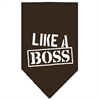 Mirage Pet Products Like a Boss Screen Print Bandana Cocoa Large