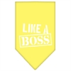 Mirage Pet Products Like a Boss Screen Print Bandana Yellow Small