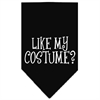 Mirage Pet Products Like my costume? Screen Print Bandana Black Large