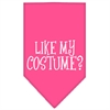 Mirage Pet Products Like my costume? Screen Print Bandana Bright Pink Large