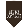 Mirage Pet Products Like my costume? Screen Print Bandana Cocoa Large