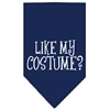 Mirage Pet Products Like my costume? Screen Print Bandana Navy Blue Small