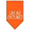 Mirage Pet Products Like my costume? Screen Print Bandana Orange Small